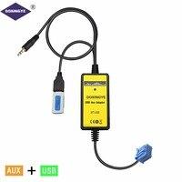 DOXINGYE Car USB AUX Adapter Car Radio Digital CD Changer Adapter MP3 Player For Honda Accord Civic Acura RSX