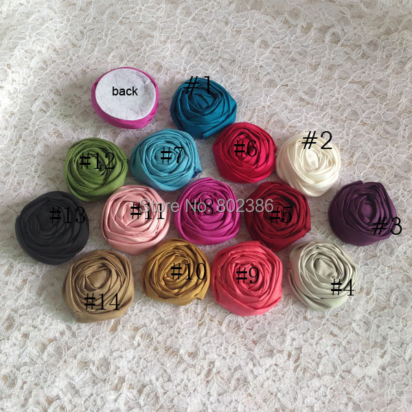 Free shipping 4.5cm mix colors dupioni silk rolled flower