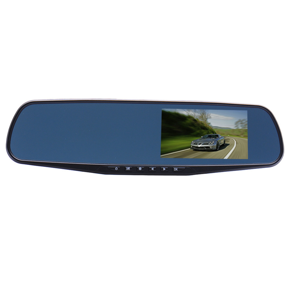 Univeral Dual Lens TFT LCD Parking Car Rear View Mirror Monitor 4.3'' Rearview Monitor for Backup Reverse Camera with G-sensor