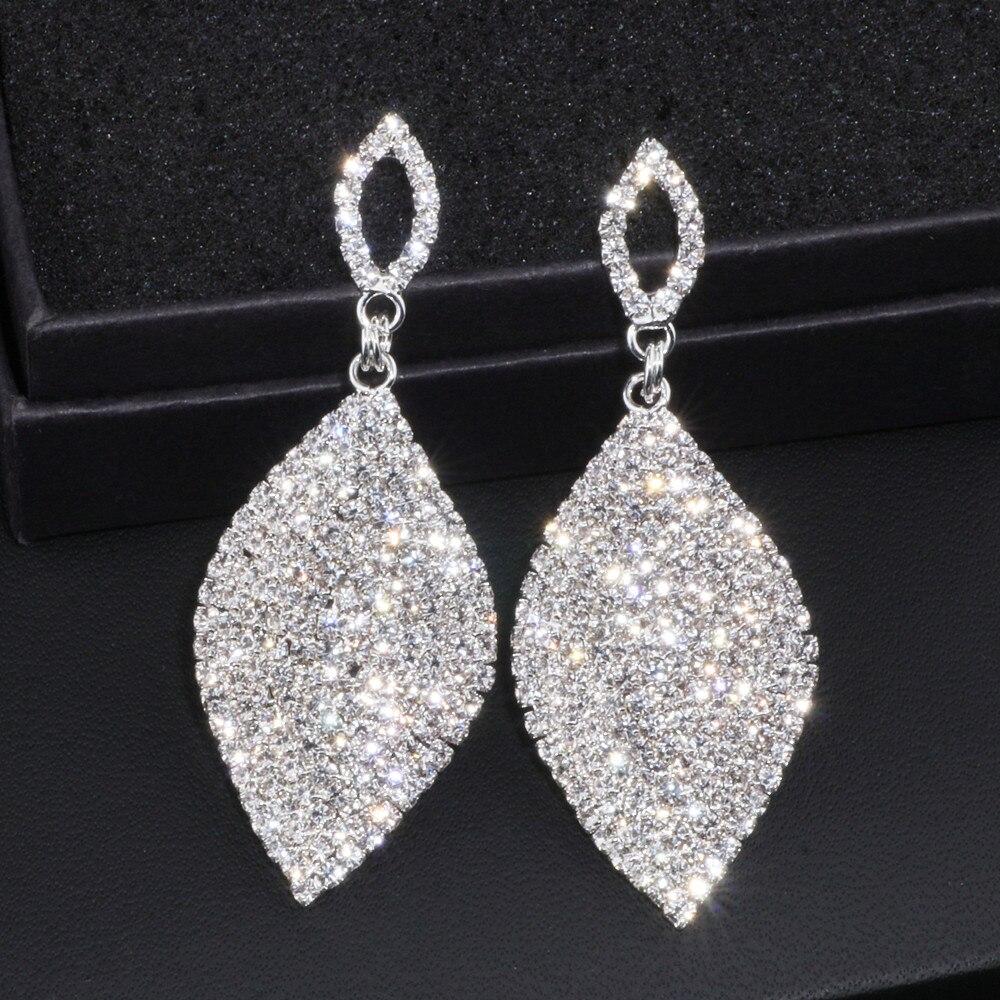 Clical Large Drop Earrings Bride Teardrop Shape Crystal For Women Rhinestone Dangle Wedding Earring Jewelry Wx065 In From