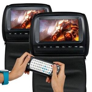Image 2 - 2 個 9 インチ車のヘッドレストモニター Dvd プレーヤージッパーカバー TFT 液晶画面サポート IR/FM Transmitte /USB/SD/スピーカー/ゲーム