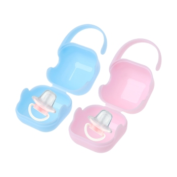 Pacifier Storage Box Nipple Dustproof Soother Container Outdoor Portable Holder 1