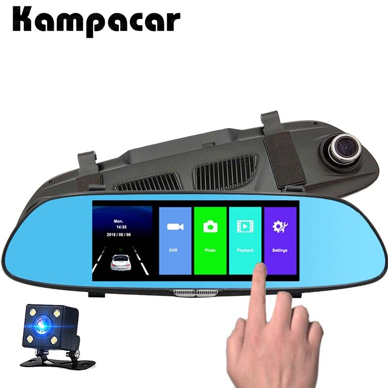 Kampacar Car Dvr Dash Cam 7 0 inch Touch Mirror Camera Video Recorder Registrator Auto Rear
