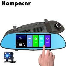 Kampacar Auto Dvr Dash Cam 7.0 pollici di Tocco Dello Specchio Della Macchina Fotografica Video Recorder Registrator Auto Vista Posteriore Specchio Con Registratori Per auto