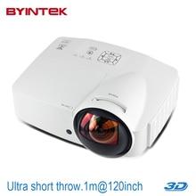 Ultra short throw focus Daylight Projector Home Cinema 6000ANSI Hologram USB HDMI 1080p full HD 3D DLP HDMI Proyector beamer