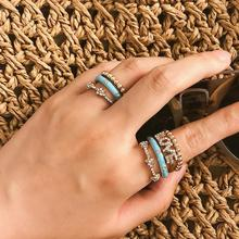 Punk Rings For Women Bohemian 7pcs/lot Ring Set Anillos Mujer Alloy Letter Bague Femme Finger Jewellery boho Accesorios Bijoux