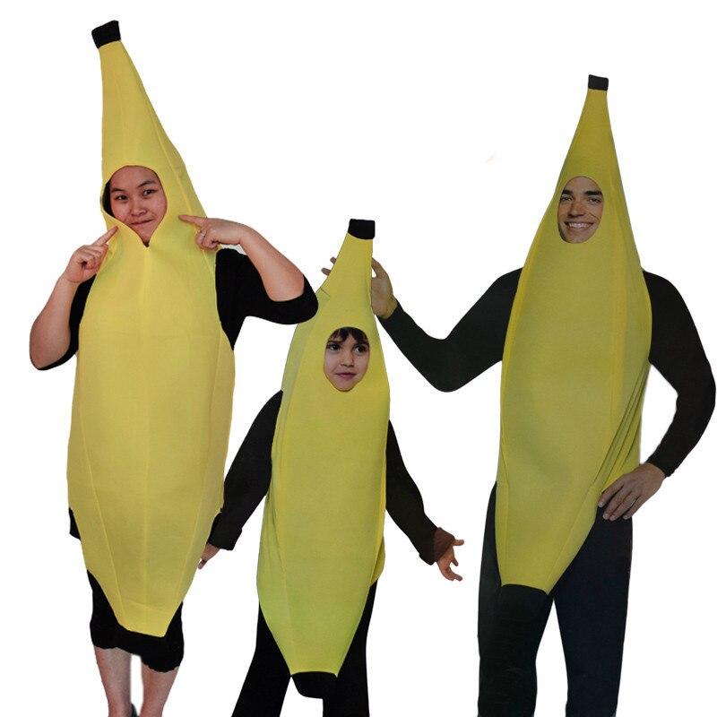 Costume d'anime de Fruit de banane drôle de 2b Cosplay pour le Parent adulte et les enfants Vestidos de bande dessinée de famille dans la fête de carnaval d'halloween