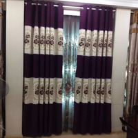 Most new embroidery magnetic curtain with Rideau for living room sheet mosquito door hotel velvet curtain window wide 2 meter