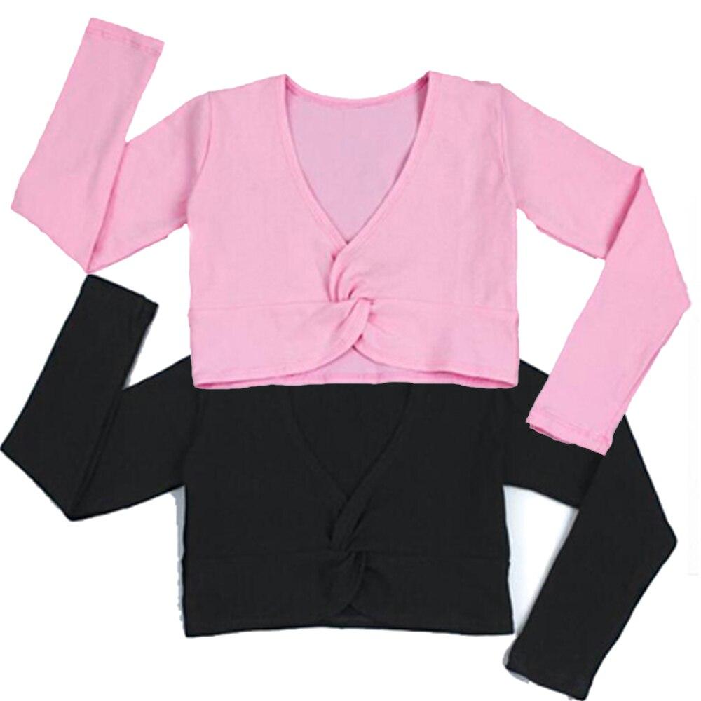 2018 Fashion Girl Ballet Gymnastic Leotard Jacket Long Sleeved Dance Sweater Top Coat Kids Dance Clothing Jacket Wrap Ballet