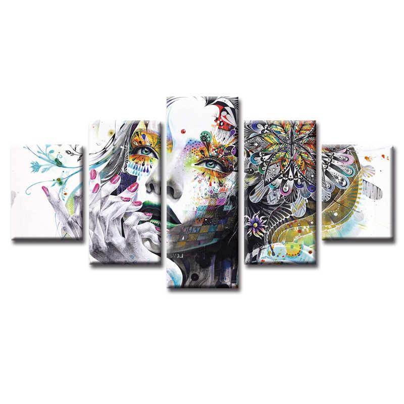 Современная граффити с красивым принтом настенный Декор Современный Книги по искусству Холст плакат распечатать изображение живопись для современного дома Гостиная/BTF521