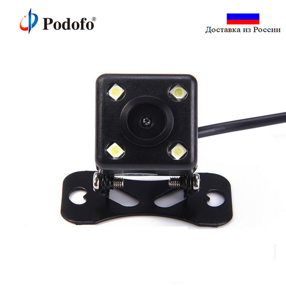 Podofo 4 LED Auto CCD HD Car Backup Reverse Camera Universal Monitor Parking Aid Reversing Front Rear View Camera Night VisionPodofo 4 LED Auto CCD HD Car Backup Reverse Camera Universal Monitor Parking Aid Reversing Front Rear View Camera Night Vision