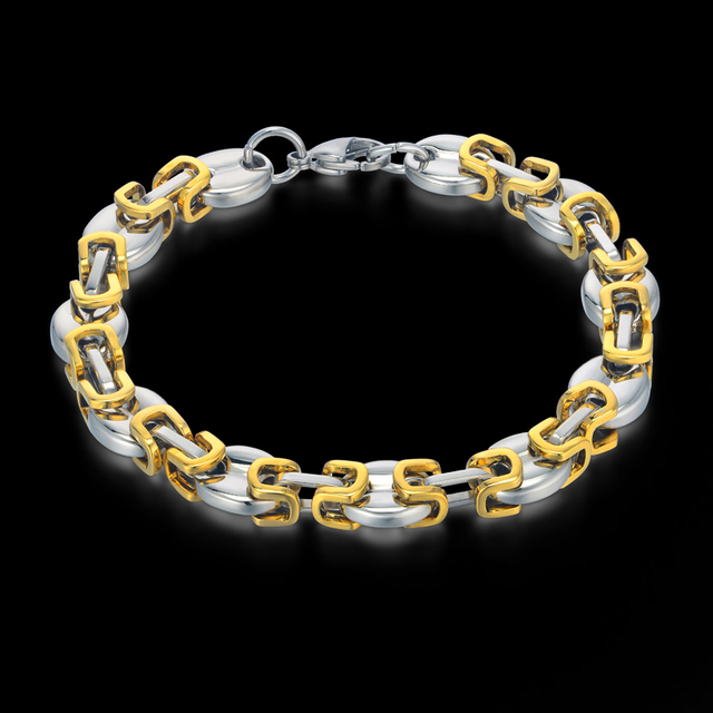 Men Stainless Steel Bracelet Wholesale Fashion Jewelry Mens Gold