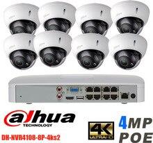 Original Dahua NVR4218-8P-4KS2 H.265 NVR with 1SATA 8POE ports with 8pcs 4MP Poe varifocal motorized lens 2.8mm ~12mm camera kit