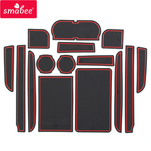 smabee Gate slot pad For TOYOTA CAMRY 2007-2013 red/blue/white 15pcs Accessories,3D Rubber Door Pad/Cup