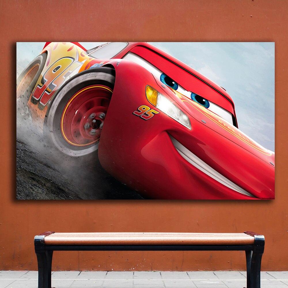 Moda coches 3 rayo mcqueen Home Decor En Lona Pintura Al Óleo ...