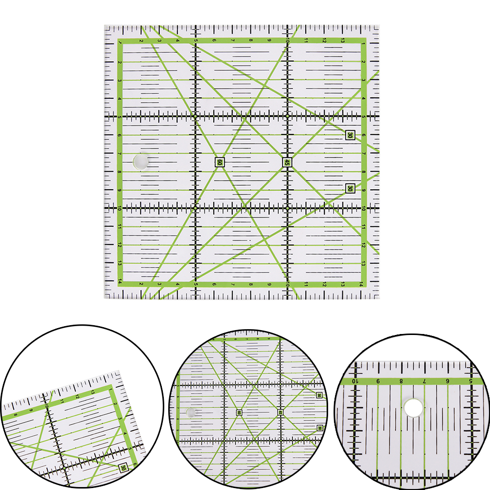 1pc Transparent Quilting Sewing Patchwork Ruler Cutting Tool Tailor Craft G03 Drop Ship Size: 15x15cm