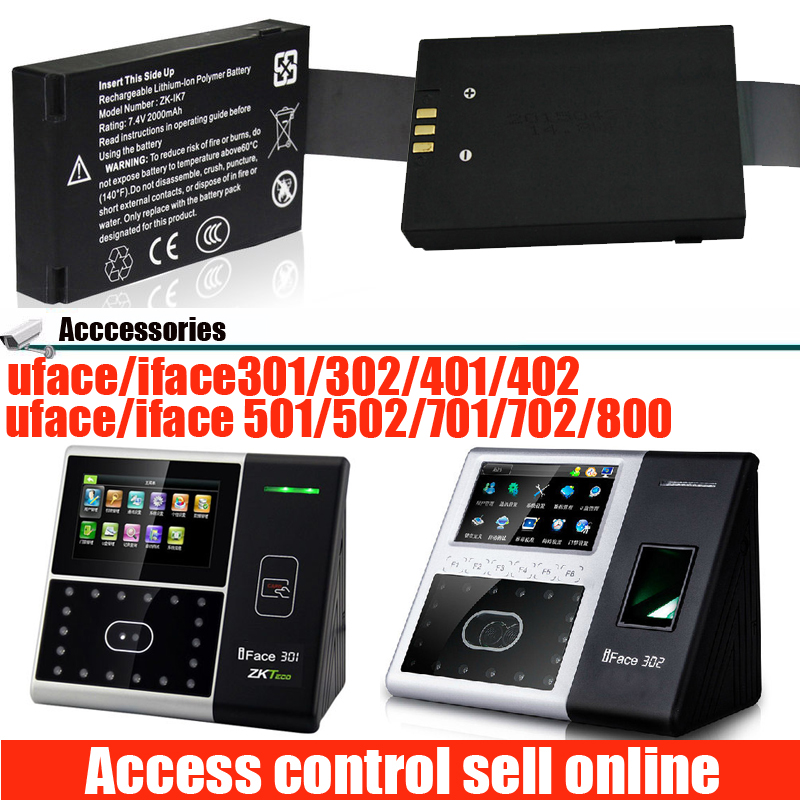 ZK Iface Series Back Up Battery 2000mAH Backup Battery Suitable For Iface302 Iface 702 Iface303 Iface800 Iface402 Iface202