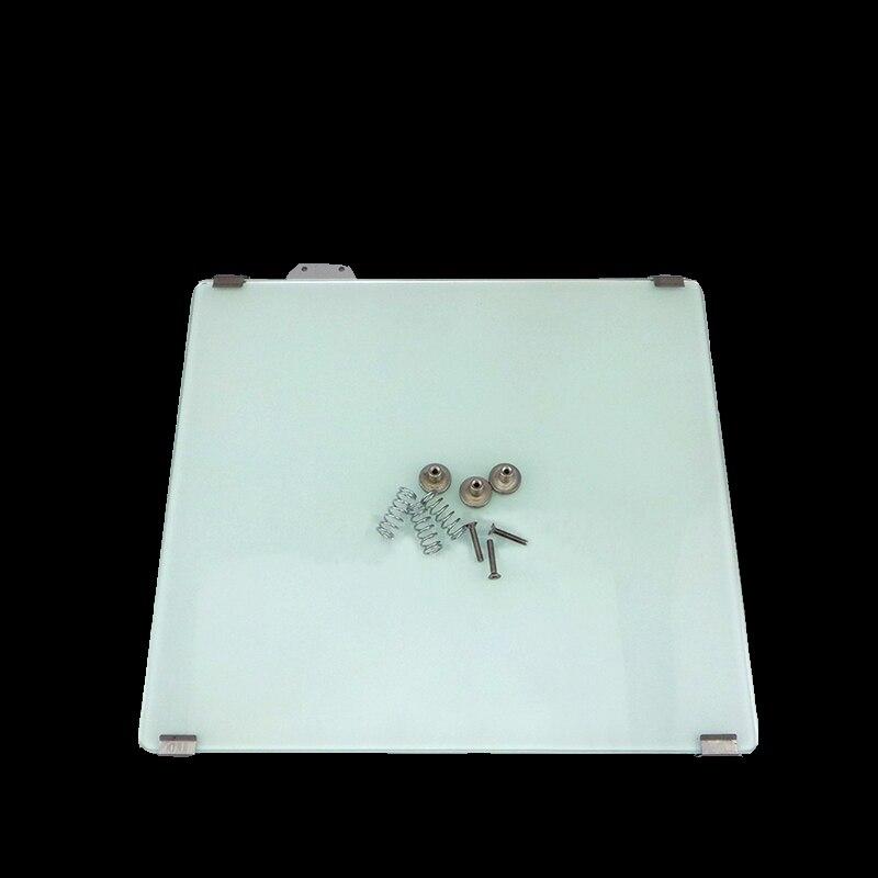 Um2 + cama de aquecimento impressora 3D + plataforma de vidro + vidro clipe fixo + ajustar dispositivo aquecido para Ultimaker2 + primavera parafuso M3 3 conjuntos
