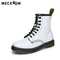 Women Boots Brand Winter Plush Warm Plush Size 44 Ankle Boots High Quality Lace Up Leather