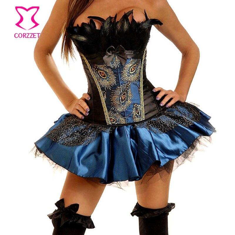 Elegant Black Butterfly Design lace up Corset Bustier S M L XL