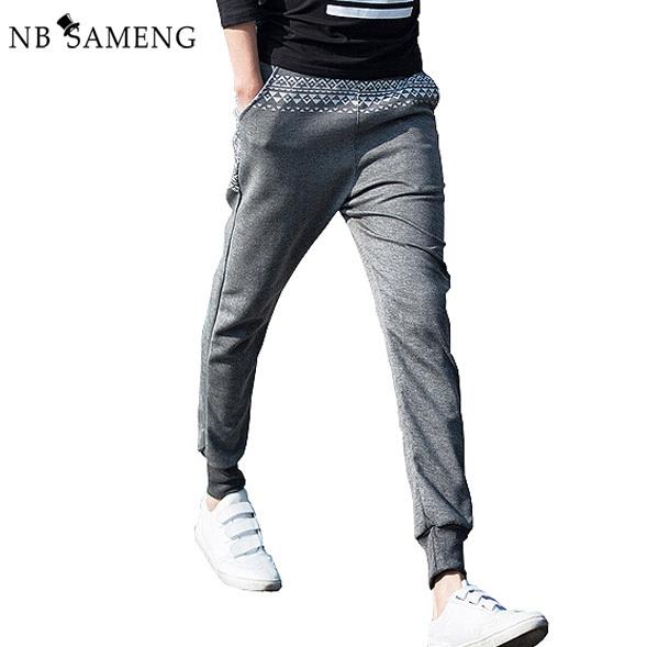 2017 marca de moda de algodón pantalones tiro caído los hombres s flaco joggers pantalón hip hop harem holgados pantalones casuales pantalones de los hombres