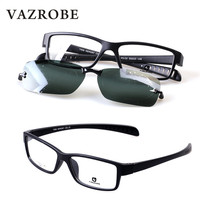 Vazrobe TR90 Clip on Polarized Sunglasses Men Sport Style Sun Glasses with Double Lens Anti Glare UV400 Myopia Eyewear for Man