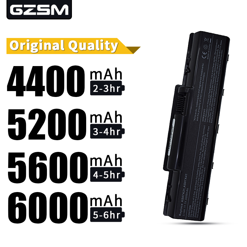 HSW 5200MAH 6cells laptop Battery For Acer 4520G 4710 4715Z 4720G 4730 4730Z 4736 5235 5334 2930 AS07A31 AS07A41 AS07A51 AS07A71 in Laptop Batteries from Computer Office