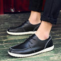 2017 Mens Shoes Genuine Leather Creepers Handmade Brand Man Flats Summer Leather Shoes Men's Fashion Casual Slip On Moccasins