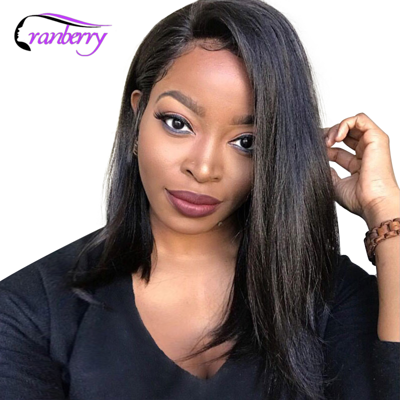 Cranberry Hair 13x4 Lace Front Human Hair Wigs Straight Lace Front Wig For Black Women Remy
