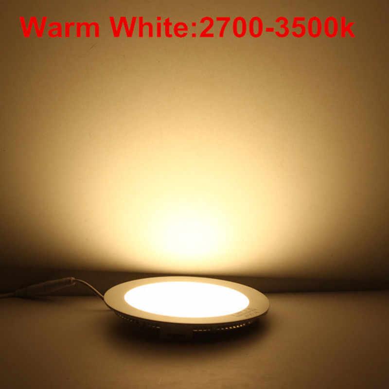 Led downlight 4 w 6 w 9 12 15 25 quadrado/redondo ultra fino smd 2835 power driver luzes do painel de teto fresco/natural/branco quente
