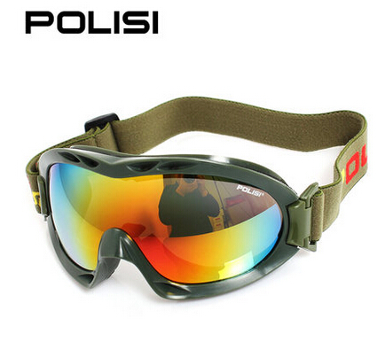 POLISI Winter Army Green Skiing Snow Goggles Men Women Motorcycle Snowboard Ski Glasses Anti-Fog UV400 Motocross Eyewear