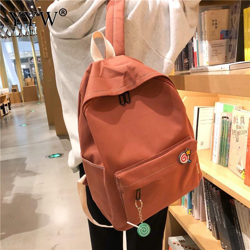 Women's Backpack Bookbag Shoulder-Bags Teenage-Girl Large-Capacity Casual With Tarvel