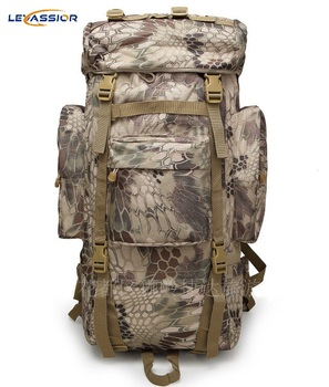 2019 New 50L Large Capacity Waterproof Military Tactical Sport Bag Travel Backpack Fishing Running Hiking Moll Camouflage Army
