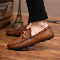 Casual Leather Loafer Shoes Men Soft Comfortable Driving Shoes Men Moccasins Footwear Mokasin Kasual For Men Schoenen785