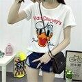 Mulheres algodão t camisa dos desenhos animados do Pato Donald t-shirt impressão verão t-shirt de manga curta mulheres casual t top plus size CG10001