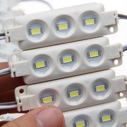 5630 LED lights DC12V SMD 5730 modułu LED 3LED wodoodporny na tablica reklamowa okno wyświetlacza ciepły biały/biały