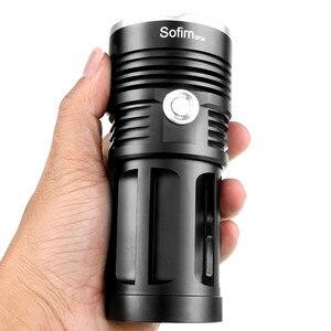 Image 2 - Linterna LED potente 3T6 4T6 5T6 7T6 8T6 9T6 18650, luz táctica Ultra brillante, lámpara portátil, 5 modos de caza y camping
