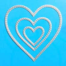 YINISE 1043 Love Frame Metal Cutting Dies For Scrapbooking Stencils DIY Album Cards Decoration Embossing Folder Craft Die Cuts