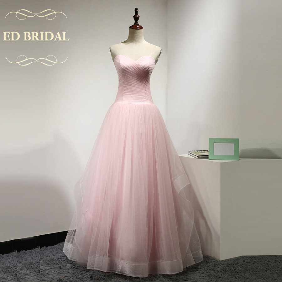 Pink Princess font b Wedding b font Dress A Line Sweetheart Floor Length Tulle font b