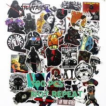 100Pcs matte Cool Styling Star Wars Luggage Decal Toy The Stickers For Car Pvc Waterproof Laptop