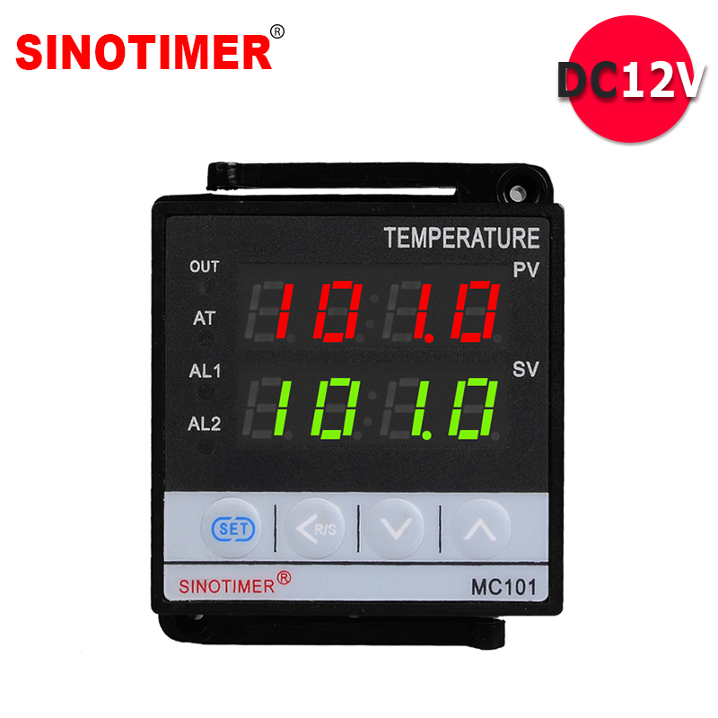 цена на Power Supply 12VDC Input PT100 K Thermocouple Digital PID Temperature Controller SSR Relay Output for Heat with Alarm