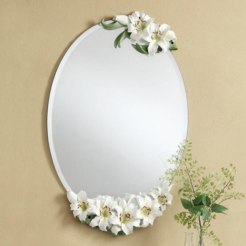 Livraison gratuite La conception Européenne, Lis mur miroir, noble et élégant, décoration pour salle de mariage, blanc/Rose