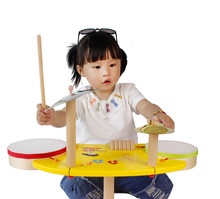 baby wooden toys drum kit musical instruments drum set baby toys music percussion instruments handbell rattle kid brinquedos