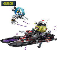 Enlighten Building Block High Tech Era Shark Cruiser Figures Educational Technic Bricks Toy For Boy Gift