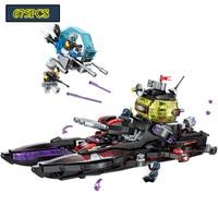 Enlighten Building Block High Tech Era Shark Cruiser Figures Educational Technic Bricks Toy For Boy Gift