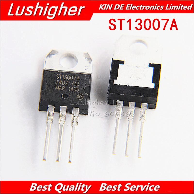 10PCS MJE13007 TO-220 E13007-2 TO220 13007 J13007 J13007-2 TRANSISTOR TO-220