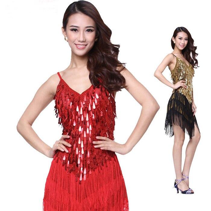 Vestido de baile latino para mujer Vestido de baile para mujeres Cha - Novedad