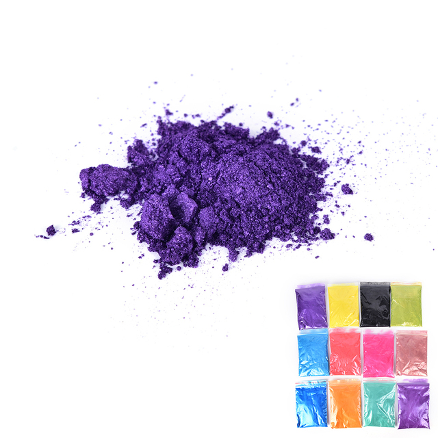 12 Colors 50g/Pack Healthy Natural Mineral Mica Powder DIY For Soap Dye Soap Colorant Makeup Eyeshadow Soap Powder Skin Care 3