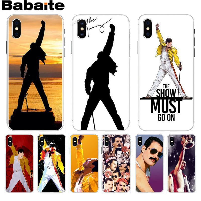 Babaite Freddie Mercury Queen band Luxury Quality Phone Case for iPhone 8 7 6 6S Plus X XS max 10 5 5S SE XR Coque Shell in Half wrapped Cases from Cellphones Telecommunications