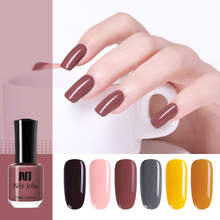 NEE JOLIE 7.5 Red Yellow Series Nail Polish Fast Dry Pure Color Manicur Art DIY Design Varnish